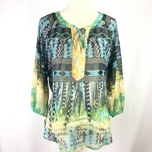 Fig And Flower Anthropologie Tunic Size Large